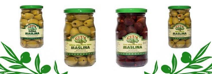 Masline, zelene i crne - Siti DOO Čačak